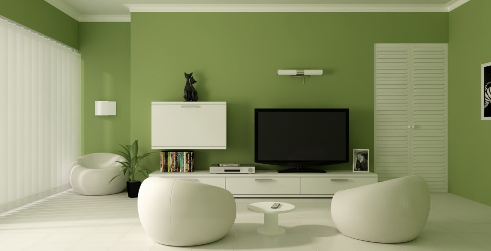 green-paint-color-modern-living-room